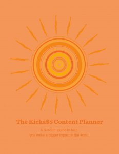 content planning template orange cover